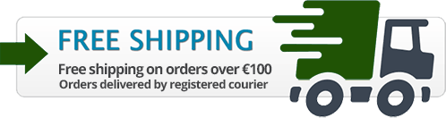 Free shipping on orders over €100